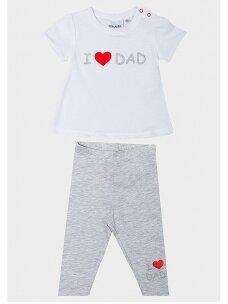 Baltas pilkas kostiumėlis I ♥ Dad 0709D134