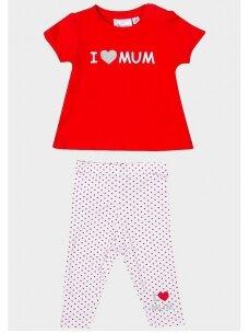 Baltas raudonas kostiumėlis I ♥ Mum 0710D134