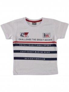 Baltos spalvos marškinėliai 0049D12