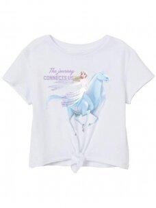 Baltos spalvos marškinėliai Frozen 1210D052