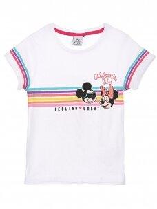 Baltos spalvos marškinėliai MINNIE MOUSE 0409D066