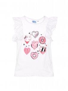Baltos spalvos marškinėliai PEPPA PIG 0414D068