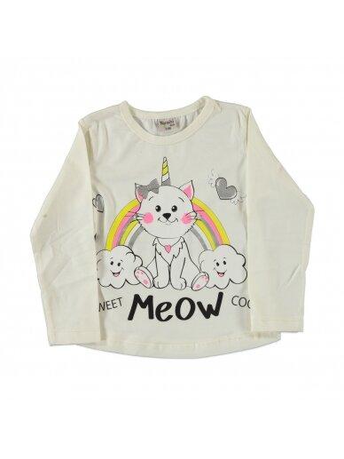 Balta vaikiška palaidinė Meow 0218D042