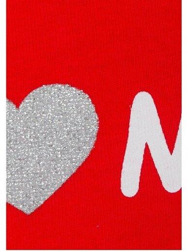 Baltas raudonas kostiumėlis I ♥ Mum 0710D134 2