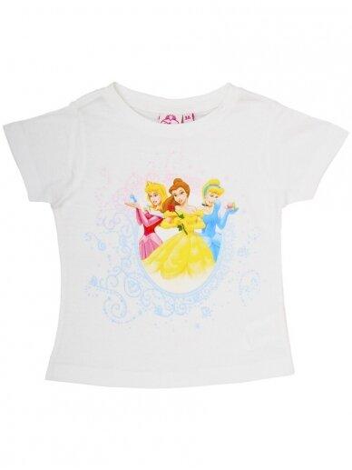 Balti marškinėliai DISNEY PRINCESSES 0361D060