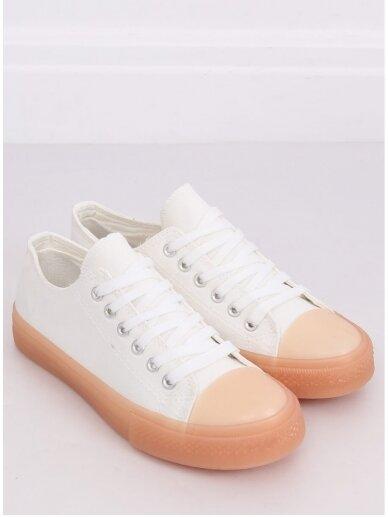 Baltos ir smėlio spalvos sportiniai bateliai FG-2948 4