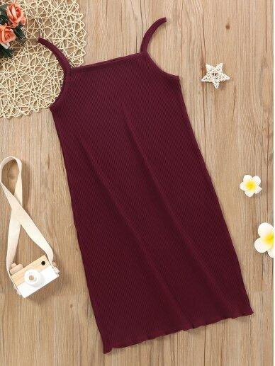 Bordo spalvos vaikiška suknelė 0578D110