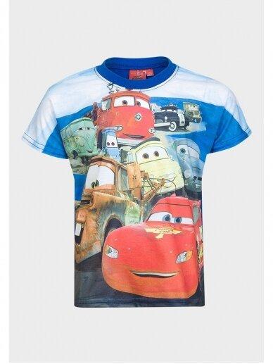 Cars marškinėliai mėlyna apykakle 0541D105