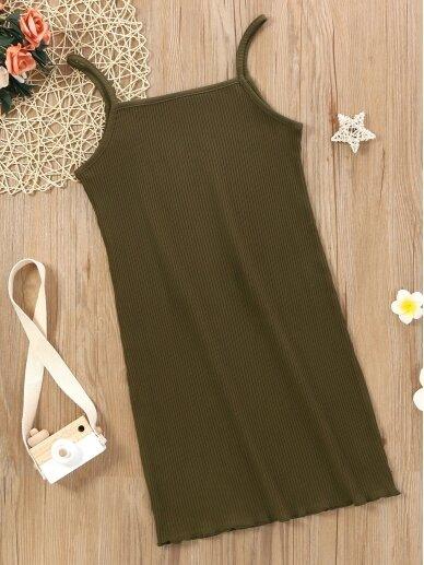 Chaki spalvos vaikiška suknelė 0567D108