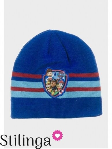 Dryžuota mėlyna vaikiška kepurė Paw Patrol 0680D123