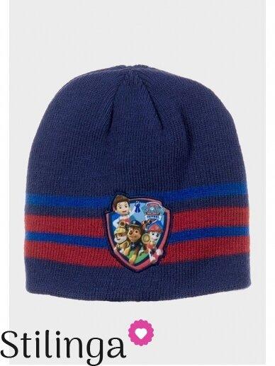 Dryžuota tamsiai mėlyna vaikiška kepurė Paw Patrol 0681D123