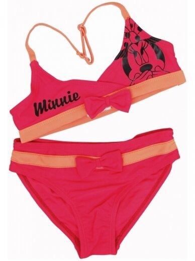Dviejų dalių rožinis maudymosi kostiumėlis MINNIE MOUSE 1031D203