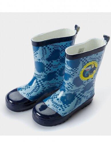 Fireman Sam vaikiški mėlyni guminiai batai 0489D86/88 2