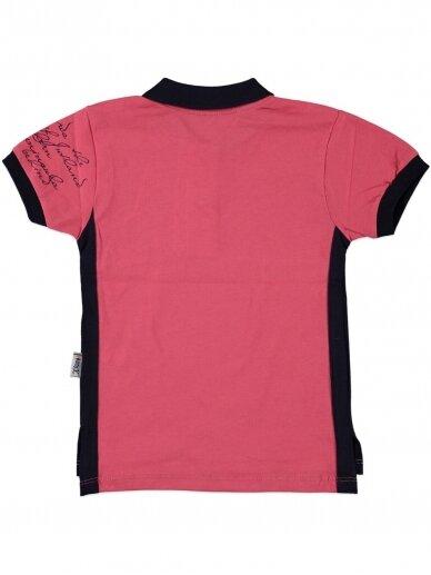 Fuksijų spalvos marškinėliai su sagutėmis 0054D12 2