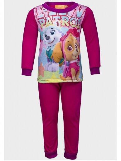 Fuksijų spalvos vaikiška pižama Paw Patrol 1064D196