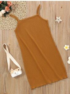 Garstyčių spalvos vaikiška suknelė 0573D109