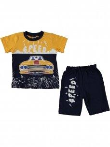 Geltoni mėlyni marškinėliai ir šortai Speed 1080D214