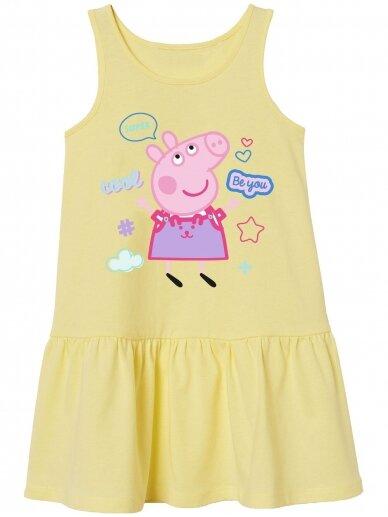 Geltona vaikiška suknelė Peppa Pig 1156D236