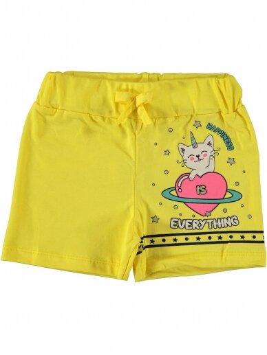 Geltonos spalvos šortukai mergaitei 1065D212