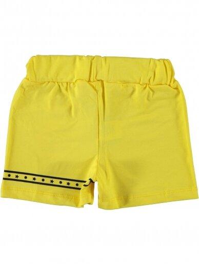 Geltonos spalvos šortukai mergaitei 1065D212 2