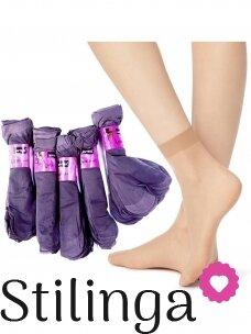 Grafito spalvos plonos kojinės, 10 porų 0111D31