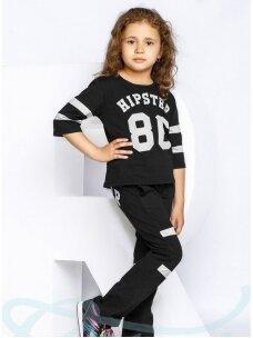 Juodas vaikiškas sportinis kostiumėlis Hipster 0822D166