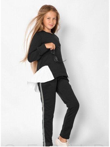 Juodas asimetriskas vaikiškas lasivalaikio kostiumėlis 0553D106 3
