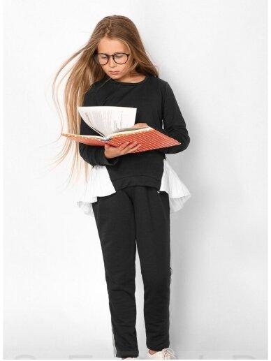 Juodas asimetriskas vaikiškas lasivalaikio kostiumėlis 0553D106