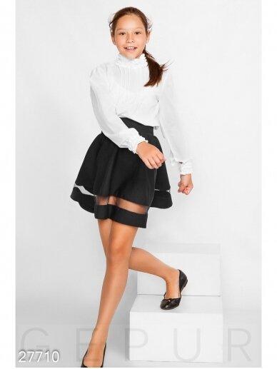Juodas sijonas mergaitei 0221D042 2