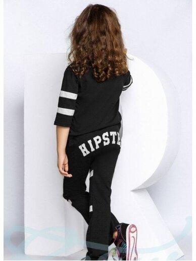 Juodas vaikiškas sportinis kostiumėlis Hipster 0822D166 2