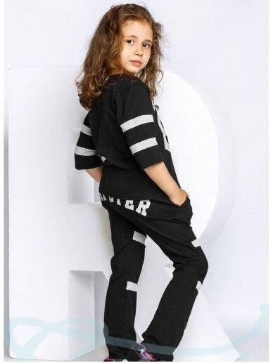 Juodas vaikiškas sportinis kostiumėlis Hipster 0822D166 3