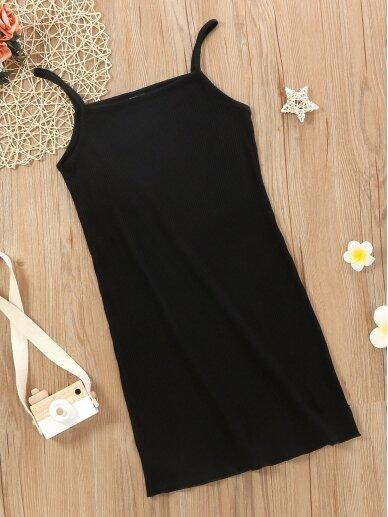 Juodos spalvos vaikiška suknelė 0595D111