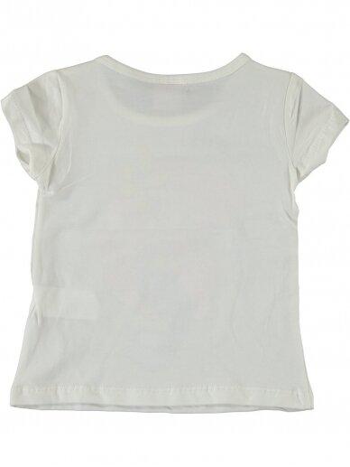 Kreminės spalvos marškinėliai Undinėlė 1071D212 2