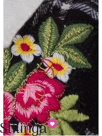 Languoti juodi vaikiški marškiniai su gėle 0797D163 2