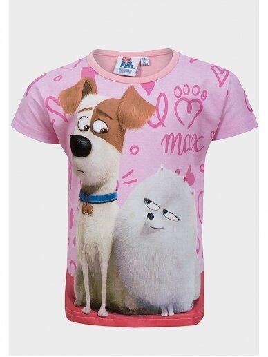 Marškinėliai su rožine apykakle The Secret Life of Pets 0971D181
