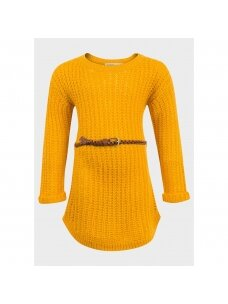 Megzta suknelė su dirželiu 0213D042