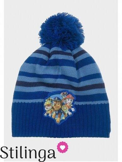 Mėlyna vaikiška kepurė su bumbulu Paw Patrol 0674D123