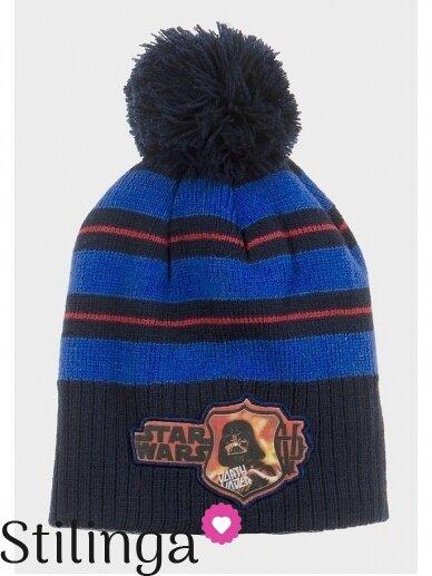 Mėlyna vaikiška kepurė su bumbulu Star Wars 0675D123