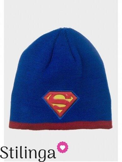 Mėlyna vaikiška kepurė Supermenas 0705D133