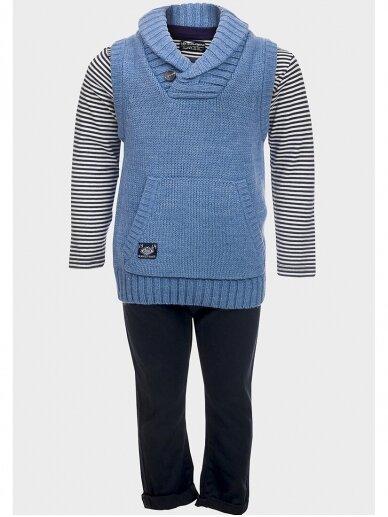 Mėlynas 3 dalių laisvalaikio kostiumas berniukui 0931D177