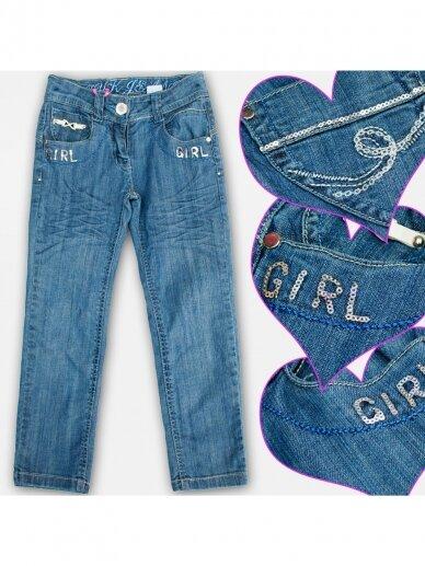 Mėlyni džnsai ir diržas Girl 0732D140