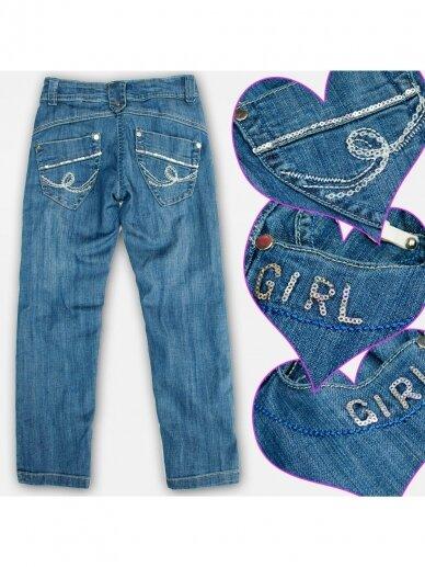Mėlyni džnsai ir diržas Girl 0732D140 2