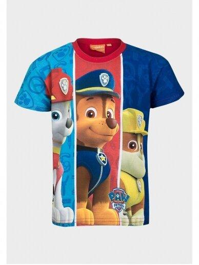 Mėlyni marškinėliai berniukui Paw Patrol 0999D186 4