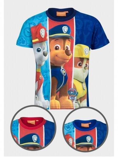 Mėlyni marškinėliai berniukui Paw Patrol 0999D186