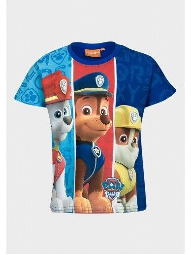 Mėlyni marškinėliai berniukui Paw Patrol 0999D186 2