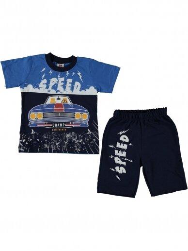Mėlyni marškinėliai ir šortai Speed 1060D209