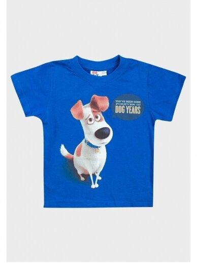 Mėlyni marškinėliai trumpomis rankovėmis The Secret Life of Pets 0544D105