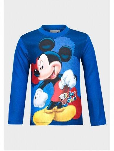 Mėlyni Mickey Mouse marškinėliai ilgomis rankovėmis 1033D193