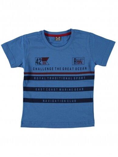 Mėlynos spalvos marškinėliai 0052D12