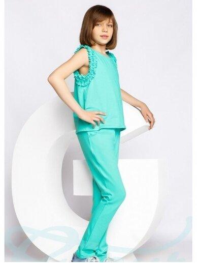 Mėtų spalvos laisvalaikio kostiumėlis 0555D106 3